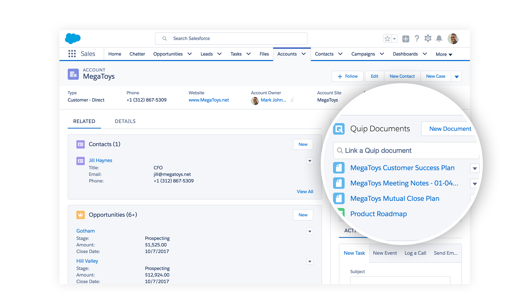 meet the new quip all these things add up to a new smarter for you and your team you can manage projects alongside your work and bring live data from sforce into